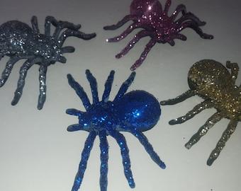 Large spiders,glitter spider,glam Spiders, Halloween Spiders, Halloween decor,pink spiders,gold spider,blue spider,silver spider