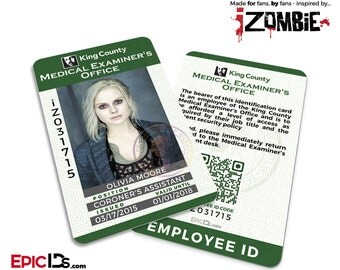 iZombie TV Series Inspired King County Medical Examiners Office Employee ID - Olivia (Liv) Moore