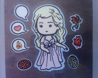 Game of Thrones Khaleesi Daemerys Targaryen Sticker Set