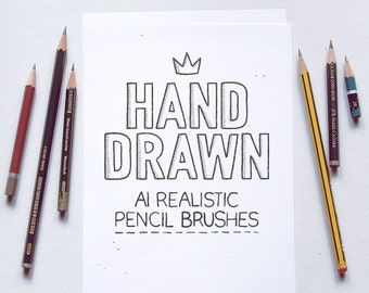 Realistic pencil brushes for Adobe Illustrator CS5 or higher