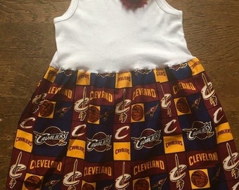 Cleveland Cavaliers Inspired dress(Baby to Adult sizes)