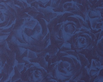 Tender 3-Dimensional Floral Blue Wallpaper R1775