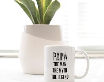 Papa Legend  - Mug - papa mug, papa legend, cup, coffee mug, tea mug, grandpa, papa, gift for papa, gift for grandpa, new grandpa
