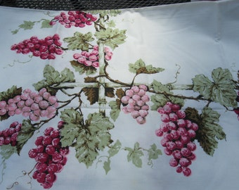 Vintage Unused Fruit Vineyard Grape Tablecloth