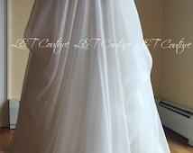 Wedding ballet tank, Blush wedding skirt, draped chiffon skirt, formal dresses, made to order dress, made in USA dress