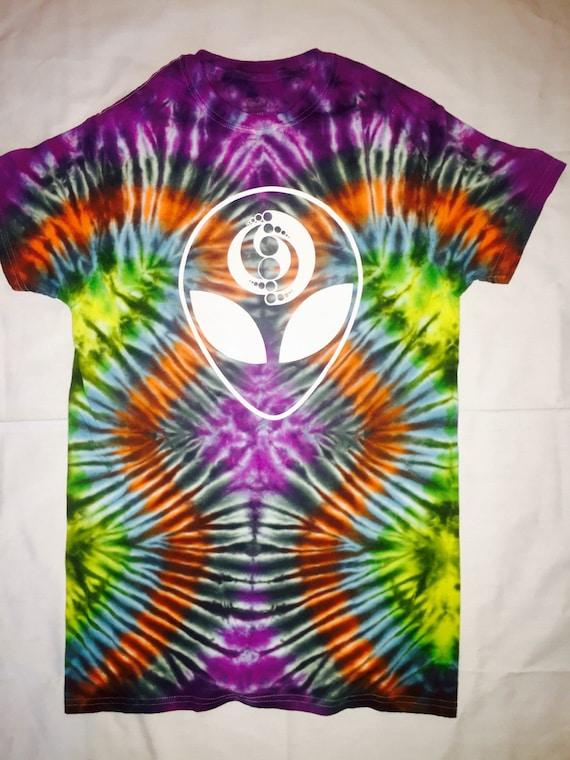 trippy tie dye t shirt by badacid on etsy