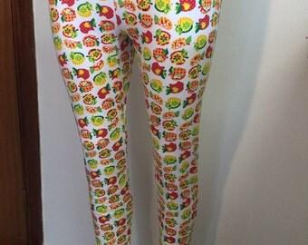 Apples pattern Cotton Leggings