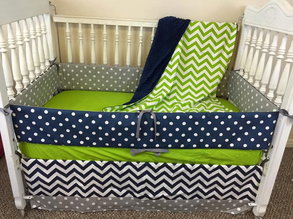 Navy And Lime Green Crib Bedding/Green Crib By