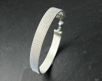 Treasa, Woven Bracelet in Sterling Silver.
