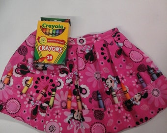 Minnie Mouse Crayon Apron Pink