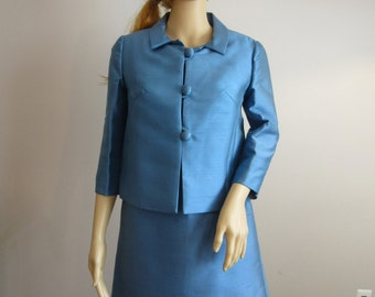 Vintage Best & Co. Fifth Ave New York Two Piece Suit Dress, Blue, Ardanti Tag
