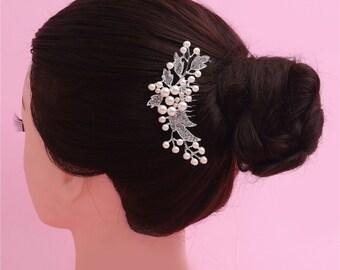 Wedding Hair Clip, Wedding comb, Rhinestone Bridal Hair Comb, Vintage hair comb, Bridal Hair Jewelry