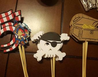 Jake And The Neverland Pirate Centerpice Sticks