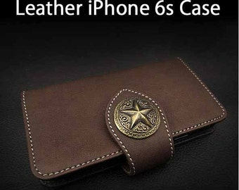 Leather iPhone Case 6s Brown Colour K01E01