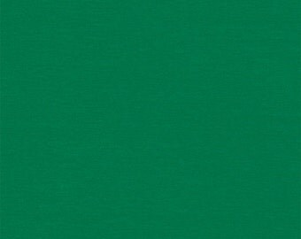Kelly Green Solid Cotton Spandex Jersey Knit Fabric