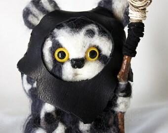 Handmade Needle-Felted Wool Ewok *Brethupp*