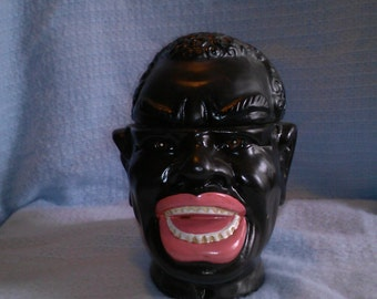 Laughing man cookie jar humidor decoration