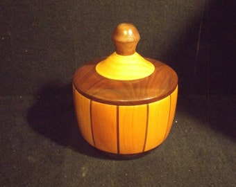 TURNED LIDDED BOWL