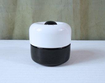 Mod Salt and Pepper Shaker Set from Italy - Donut (Doughnut) / Male Female Salt and Pepper Combo