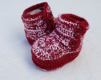 Winter Booties, Red Boy Shoes, Red Boy Booties, Red Baby Boy Shoes, Winter Baby Shoes. Boy Winter Shoes, Red Boy Boots, Crochet Boy Boots