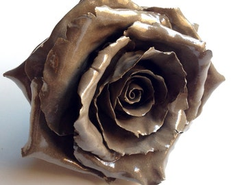 Chocolate clay rose