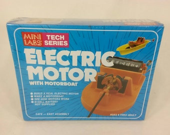 Vintage sealed new in box Mini labs tech series electric motor boat