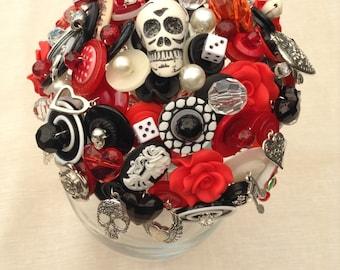 Rockabilly  Button Bouquet