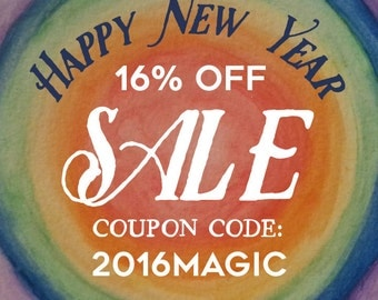 New Year Sale - 16% Off the Entire Shop!