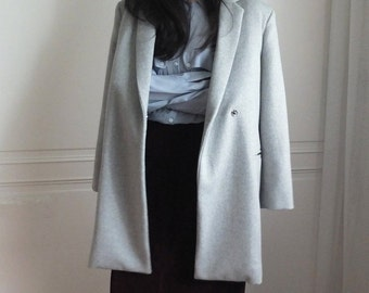 2016 MID-YEAR sample sales – reseau coat (grey, XL) (black, Sz Medium)