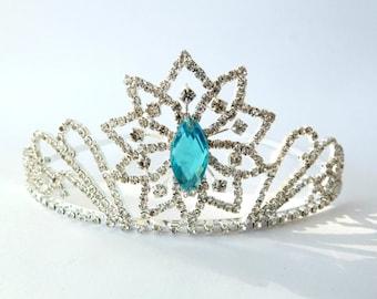 Snowflake Crown ,FROZEN FEVER Crown ,Elsa Snowflake Crown Frozen Fever Tiara ,Frozen Fever Costume , Anna Tiara, Snowflake Rhinestone Tiara