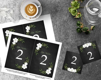 Chalkboard Wedding Table Numbers, 4x6 and 5x7 DIY Table Numbers, Fall Wedding Template, Instant Download, Tented Table Number, DIY Wedding