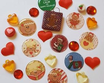 Christmas Gingerbread  Scrapbook Embellishments