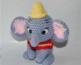 Fly Elephant Knitted Toy - Hand Knitted Animal - Plush Knitted Toy - Kids Toy - Plush Doll - Kids Gift Children Gift-Cartoon elephant