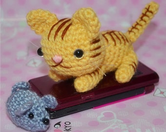 Tiger stripes cat-Cute Cat Knitted Toy Hand Knitted Animal - Plush Knitted Toy - Kids Toy - Plush Doll - Kids Gift Children Gift- love gift