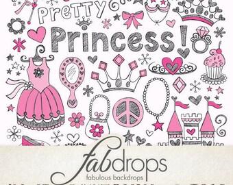 5x7 Princess Party Theme photography vintage background - Fab Vinyl 5'x7' ft (FV6060)