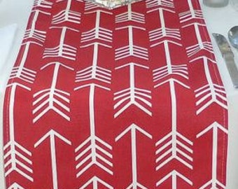 Red Arrow Table Runner