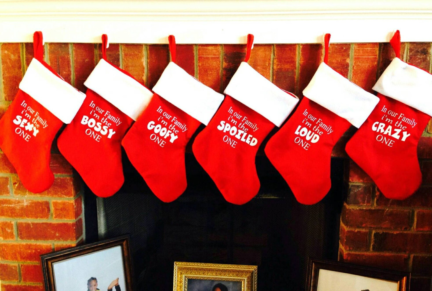 Uncategorized Funny Christmas Decorations Pictures family christmas stockings red funny decorations personalized stoc