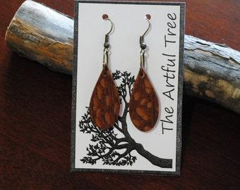 Lacewood Raindrop Earrings