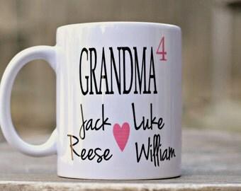 Gift for Grandma, Mug for Grandma, Christmas gift for grandma, Personalized Grandma mug, New Grandma mug, Gift from Grand kids