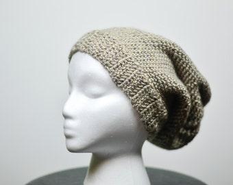 Slouchy beanie, crochet beanie hat, adult beanie, child beanie,tan hat, tan beanie