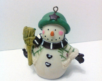 Christmas ornament snowman ornament Shabby chic Christmas tree Christmas decorations