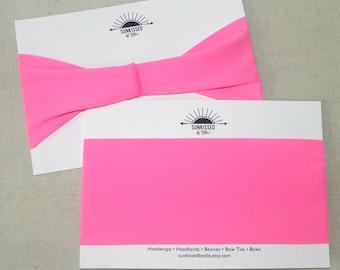 Hot Pink UV 50+ Fitness Headband, Yoga Headband, Running Headband, Spandex Headband