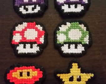 Set of 3 Mario Themed Hair Clips