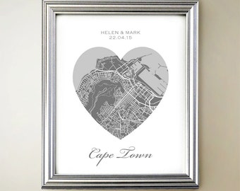 Cape Town Heart Map