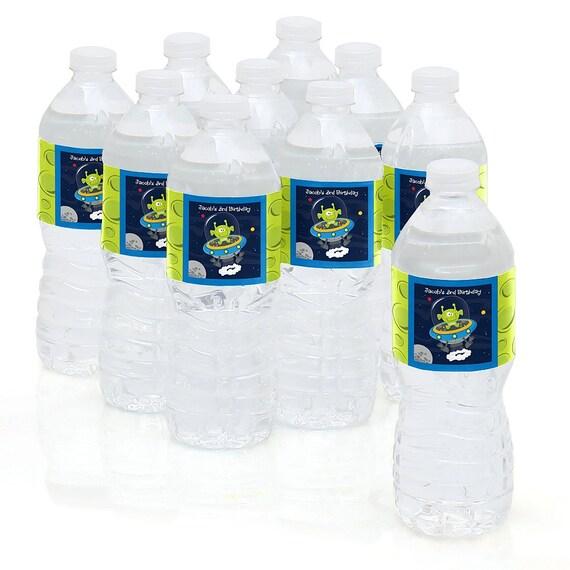 Space Alien Water Bottle Sticker Labels