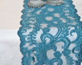 "10 yard roll of 7"" wide Teal Lace Trim / Clearance Last Piece"