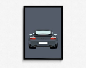 Porsche 911 Turbo (996) A3 Print