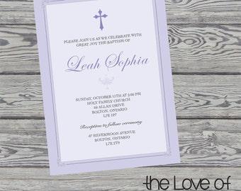 Baby Blessing - Baby Baptisim - Baby Christening Invite