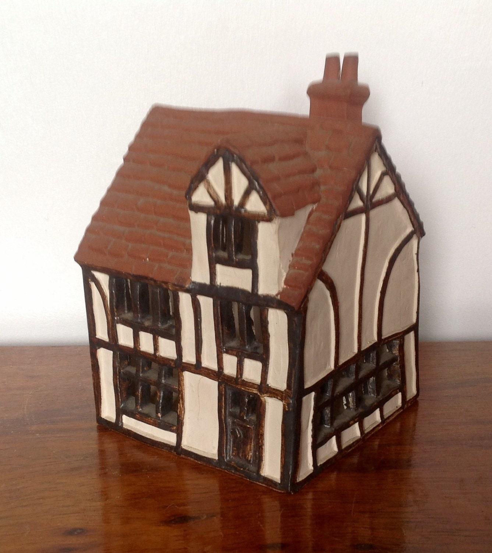 Rare Tudor House Money Box O 39 Donoghue Pottery Rye 1977