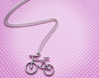 Vintage bicycle pendent & chain